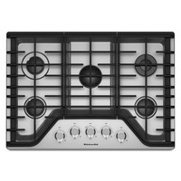 "Cooktop de Gas KitchenAid 30"" Gris"
