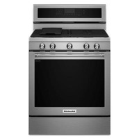 "Estufa de Gas con Horno de Conveccion KitchenAid 30"" Gris"