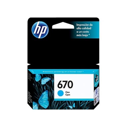 Cartucho de Tinta HP Cian 670