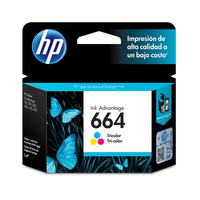 Cartucho de Tinta HP Tri- Color 664