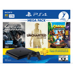 Sony Playstation 4  1TB con 3 Juegos Mega Pack Negro