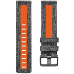 Banda Negra/ Anaranjada Large Tejido Para Fitbit Versa 2