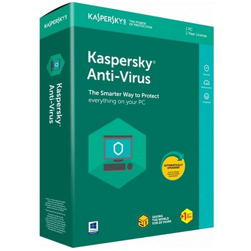 Kaspersky Antivirus para 1 Usuario 1 Año