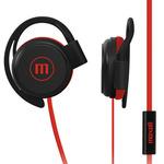 Audífonos EC-155 Ear Clip Flat Cable W/mic Red