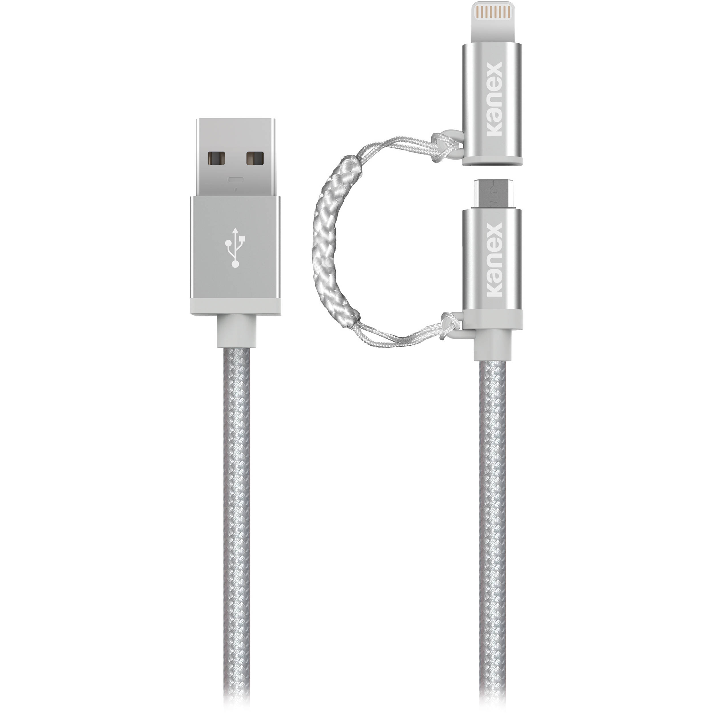 CABLE PREMIUM IPHONE /ANDROID SILVER