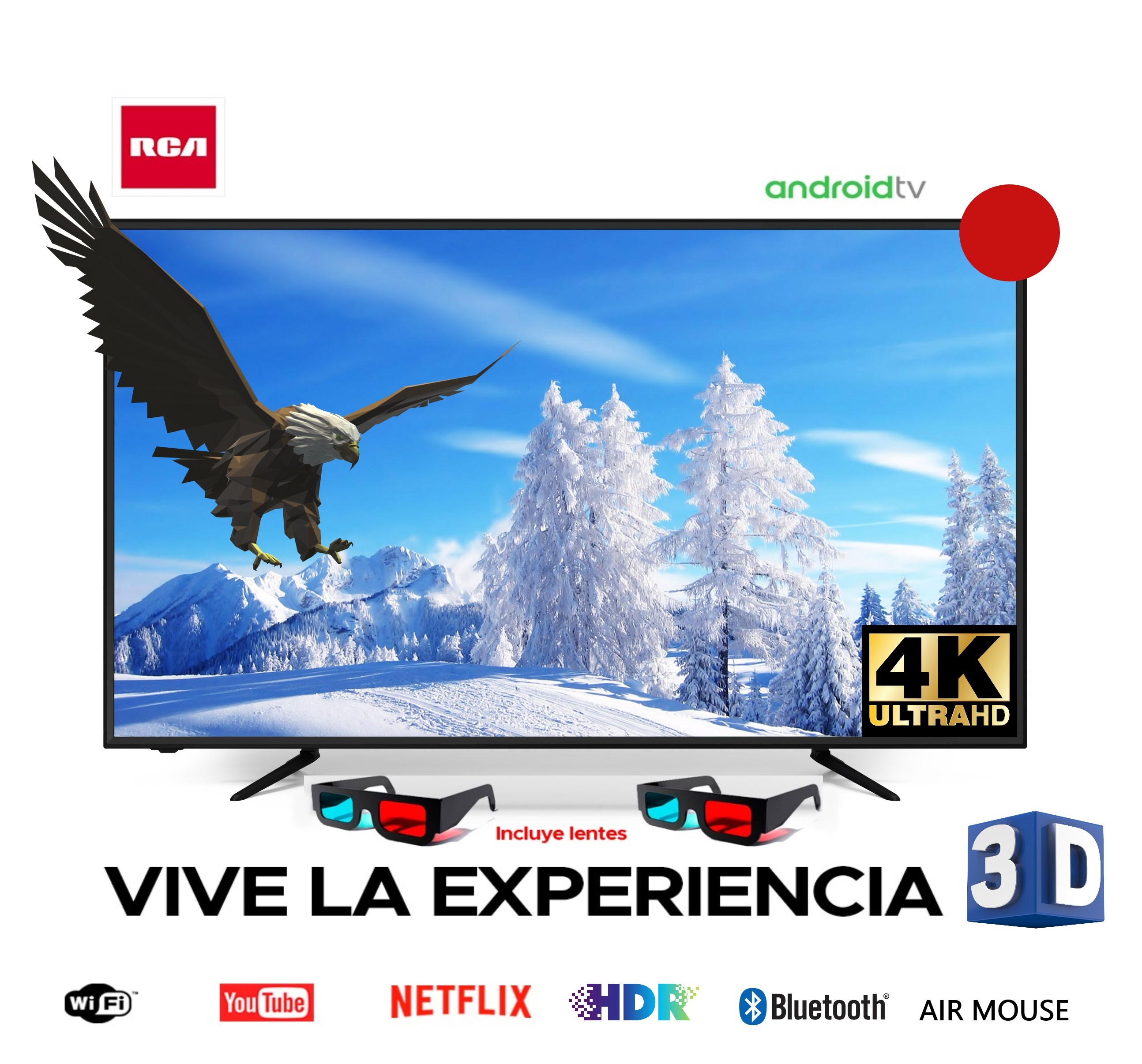 "Smart TV RCA 65"" LED 4K UHD/ RC65-A21S"